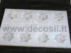 Christmas Flowers - big and small mould