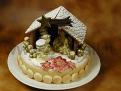 Nativity's hut with Christmas Star mold