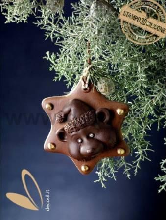 Teddy Bear Ornament chocolate mold