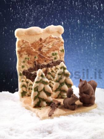 Backdrop Snowy Landscape mold