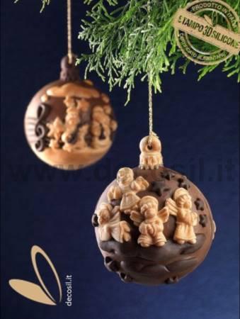 Molde Media-Bola de Navidad Clave de Sol