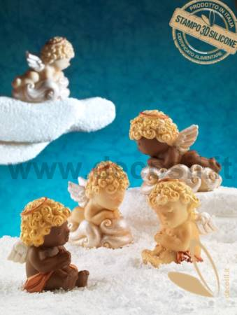Cherub on the Cloud Mold
