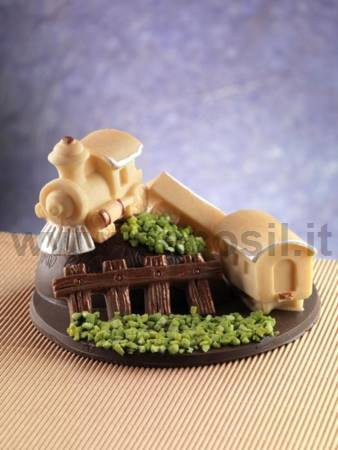 Steam Train with wagons mold  - cake topper