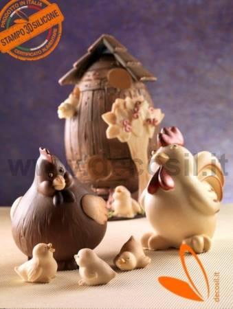 Hen CoccaChicken Chocolate Mold