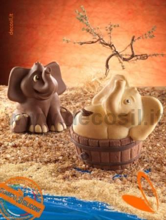 Sitting Elephant mold