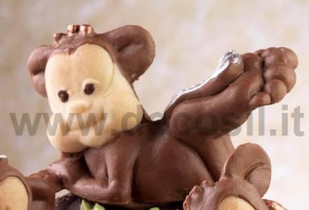 Stampo Scimmietta Distesa