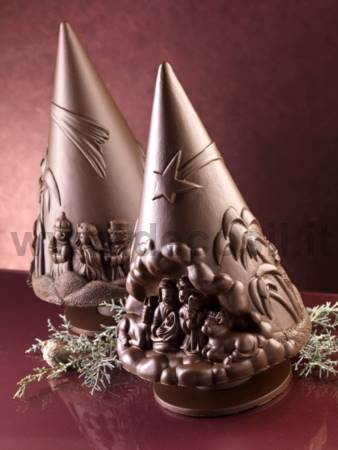 Chocolate Christ's Nativity Christmas tree mold