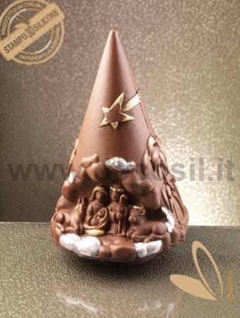 Nativity Scene Chocolate Christmas Tree LINEAGUSCIO Mold