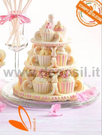 Cupcakes Chocolate Easter Bell LINEAGUSCIO Mould