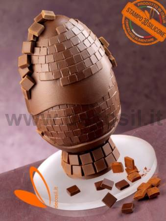 Mosaic Chocolate Easter Egg Mould
