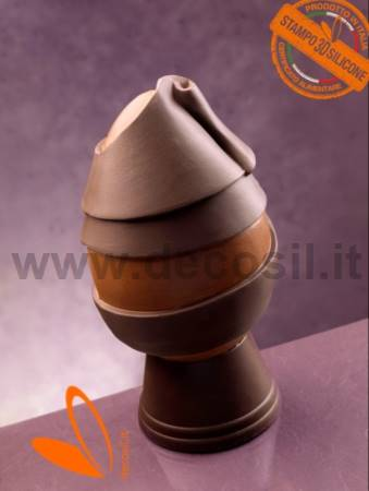 Ribbon Chocolate Easter Egg LINEAGUSCIO Mold