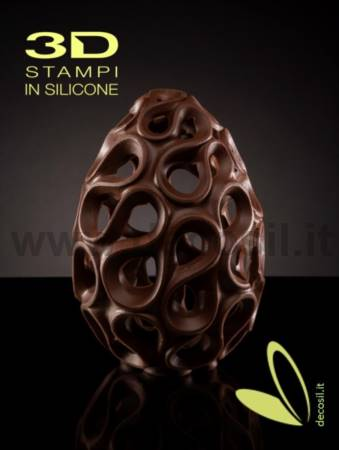 Ceramic Chocolate Easter Egg LINEAGUSCIO Mold