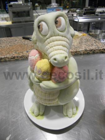Ice Cream Crocodile Big Egg Mold