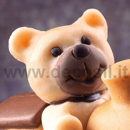 Small Teddy Bear's Head mold