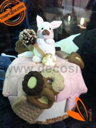 molde Cara de Conejo