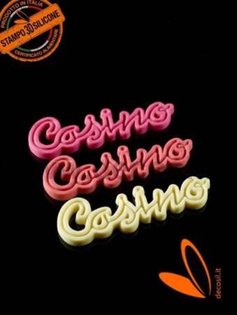 Stampo Scritta Casino