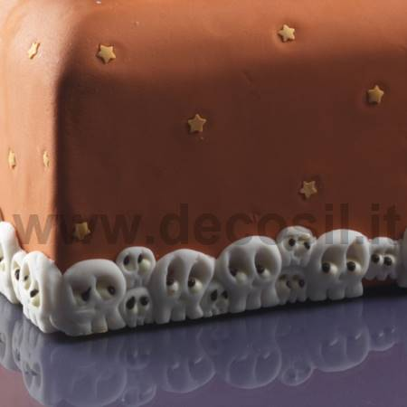 Decor Border Skulls mold