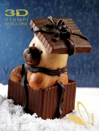 Moule Sac cadeau avec ourson