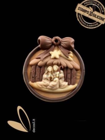 Christmas Crib Ornament Mold