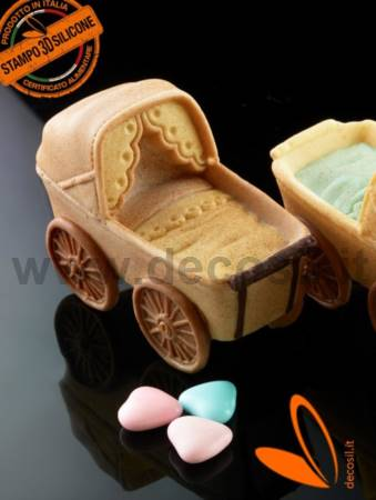 Pram 3D silicone mold